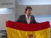纳达尔展示西班牙国旗