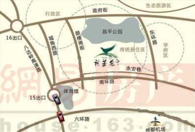 北京雍璟台交通图图片